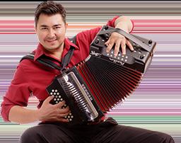 Antonio Tanguma Jr. playing diatonic accordion.