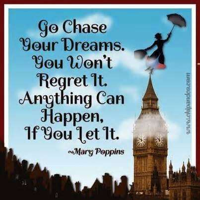 My second musical quote of my new quote series is from Mary Poppins. I haven't seen this movie