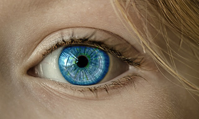 The human eye is very visual.