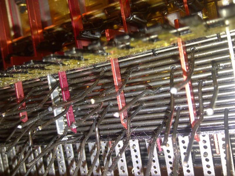Bass mechanism dust collection.