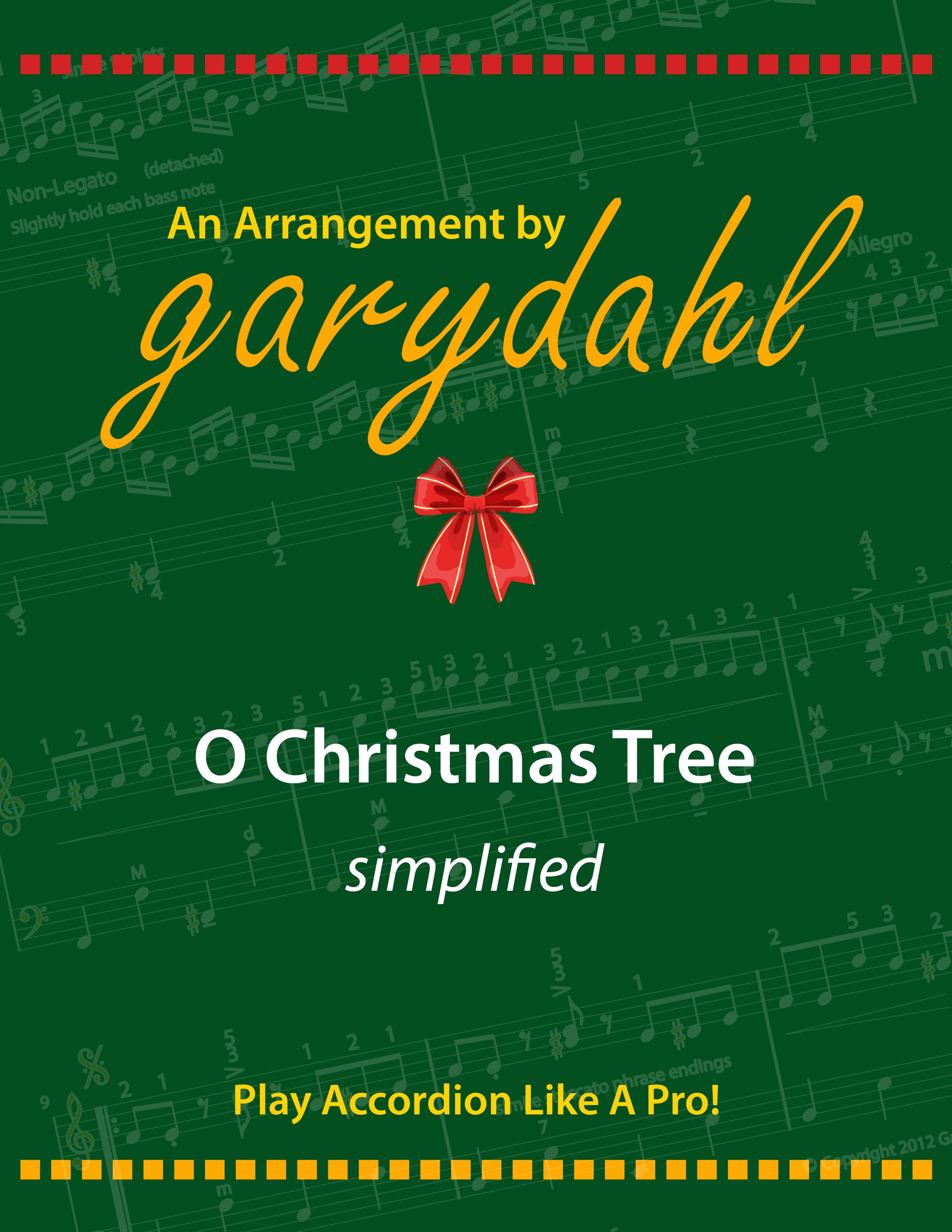 Accordion Sheet Music: O Christmas Tree • AccordionLife.com